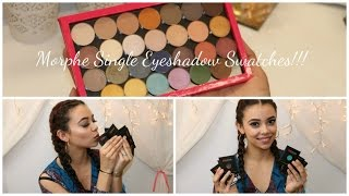 getlinkyoutube.com-Morphe Individual Eyeshadow Swatches!!!
