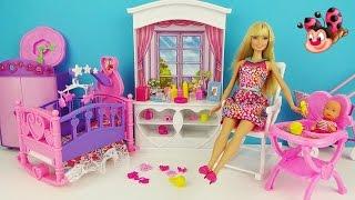 """Детская комната. Мультик """"Кукла Барби и пупсик"""" Игровой набор Игрушки для девочек Barbie baby Kids"""