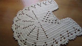 getlinkyoutube.com-Tapete Jogo Banheiro Crochê  Parte 1