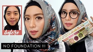 Makeupku Kalau Nge Mall | No Bulumata No Foundation | Review in The Balm Of Your Hand Palette