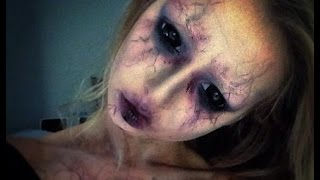 tutoriel maquillage d'halloween, demon