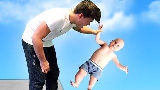 getlinkyoutube.com-BABY THROWING SIMULATOR!