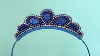 Passo a passo: como fazer uma tiara com coroa em pé