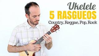 5 Rasgueos Ukelele Mejora Ritmo - Reggae, Country, Pop, Rock