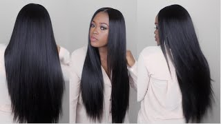 getlinkyoutube.com-Watch Me Slay This Wig From Start To Finish | Sleek Straight Long Hair