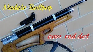 getlinkyoutube.com-Carabina PCP caseira bullpup com red dot (senapan)