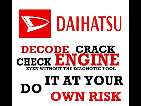 How to Decode & read DAIHATSU Cars OBD 16 pin Check engine even without obd Scanner