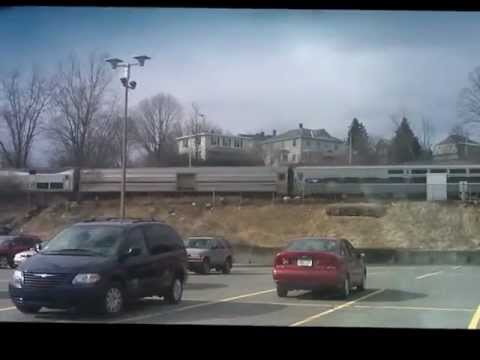 amtrak 449 westbound @ cp150 pittsfield ma 3-13-2013