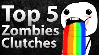 """getlinkyoutube.com-TOP 5 Clutches in Call of Duty Zombies - """"Black Ops 2 Zombies"""", Black Ops & World at War"""