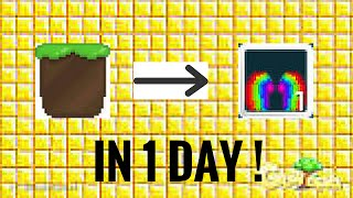 getlinkyoutube.com-Growtopia - Dirt To Rainbow Wing / In 1 Day (Easily)