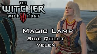 getlinkyoutube.com-The Witcher 3: Wild Hunt - Magic Lamp - Side Quest - Velen