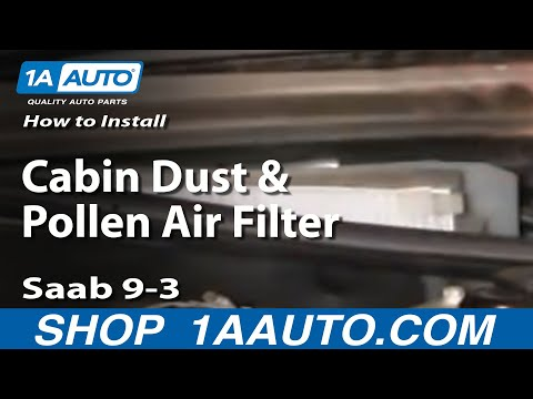How to Replace Cabin Air Filter 03-10 Saab 9-3