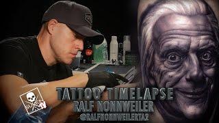 getlinkyoutube.com-Tattoo Time Lapse - Ralf Nonnweiler