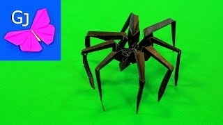 getlinkyoutube.com-Оригами паук