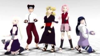 getlinkyoutube.com-[MMD Naruto] Sakura/Ino/Hinata/Tenten/Temari - Sexy Love