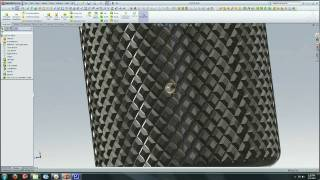Solidworks Tutorial : Creating a  Knurl Surface