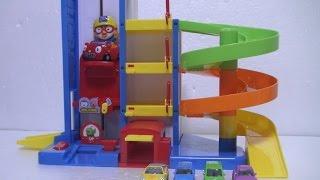 getlinkyoutube.com-뽀로로 주차장 장난감 Pororo Parking Tower Toys