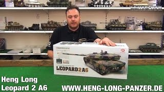 getlinkyoutube.com-RC PANZER LEOPARD 2 A6 HENG LONG 3889-1 PRODUKTVORSTELLUNG AUSGEPACKT UNBOXING