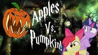getlinkyoutube.com-My Little Pony Stop Motion -- Halloween/Nightmare Night Special -- Apples vs. Pumpkin!