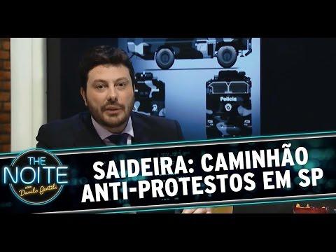 The Noite (18/12/14) - Saideira da Noite: Caminhão anti-protestos em SP