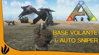 getlinkyoutube.com-[FR] ARK: Survival Evolved - Base volante & Auto sniper