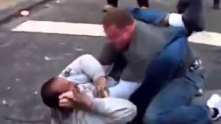 getlinkyoutube.com-Black Guy Gets BEAT DOWN by Marine.
