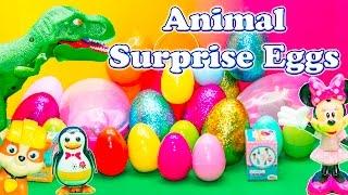 getlinkyoutube.com-SURPRISE EGGS Surprise Animals Paw Patrol + Sofia + Doc McStuffins Kinder Surprise Eggs Video