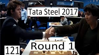 getlinkyoutube.com-Tata Steel 2017 - Round 1 with So-Carlsen
