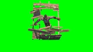 getlinkyoutube.com-Green Screen Man Runs Jumps and Destroys Door - Footage PixelBoom