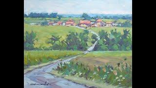 getlinkyoutube.com-Christian Arnould - demonstration  plein air Oil Painting 01
