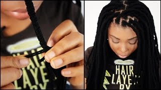 getlinkyoutube.com-Faux Locs START TO FINISH In 5 Minutes!!!
