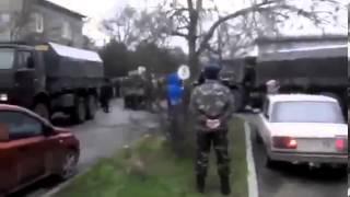 """getlinkyoutube.com-Жесть! Украинские оккупанты провоцируют """"вежливых зеленых"""" и местное население Крыма!"""
