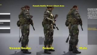 getlinkyoutube.com-MGSV: Phantom Pain - SwimSuit and Female Uniforms (Metal Gear Solid 5)