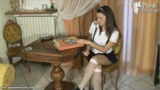 getlinkyoutube.com-Foot Fetish - PiediDaFavola.com - Valentina-Schoolgirl.wmv