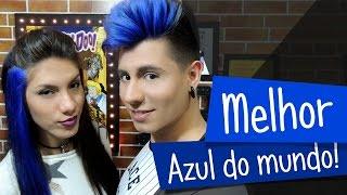 getlinkyoutube.com-Cabelo azul com Violeta Genciana