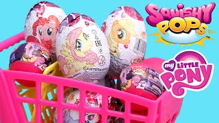 getlinkyoutube.com-My Little Pony Squishy Pops Wave 2 and MLP Chocolate Surprise Eggs