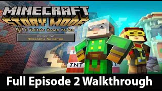 getlinkyoutube.com-Minecraft Story Mode Episode 2 Full Walkthrough NO Commentary