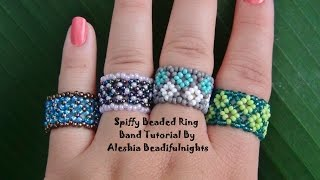 getlinkyoutube.com-Spiffy Beaded Ring Band Tutorial