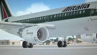 getlinkyoutube.com-A319 Alitalia Decollo da Catania