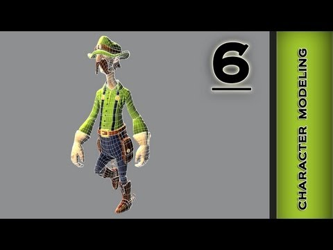 Autodesk Maya 2013 Tutorial - Character Modeling - Ears, gloves,boots Part 6