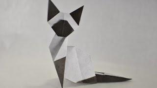 getlinkyoutube.com-Origami (easy) Siamese Cat by Makoto Yamaguchi - Yakomoga Origami tutorial
