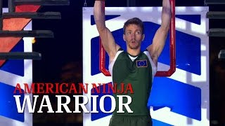 getlinkyoutube.com-Stefano Ghisolfi at Stage 3 of American Ninja Warrior USA vs The World 2014 | American Ninja Warrior