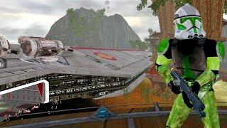 getlinkyoutube.com-Star Wars Battlefront 2 Mods - Kashyyyk: Star Wars Episode III Map