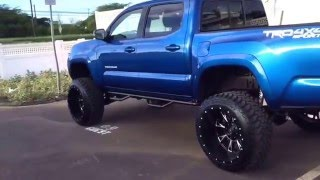 "getlinkyoutube.com-2016 lifted Toyota Tacoma w/ 6""fabtech lift, 22x14 rims , 12.5""x 33's toyo tires ."