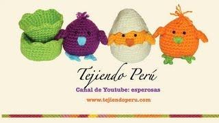 getlinkyoutube.com-Pollitos tejidos en crochet (amigurumi) Parte 1