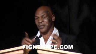 getlinkyoutube.com-MIKE TYSON TELLS GREAT STORY ABOUT MUHAMMAD ALI; GETS CHOKED UP WHILE INDUCTING HIM TO NVBHOF
