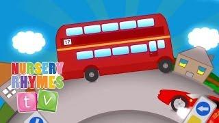 getlinkyoutube.com-BIG RED BUS | Nursery Rhymes TV. Toddler Kindergarten Preschool Baby Songs.