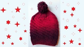 getlinkyoutube.com-Štrikana zimska kapa (Knitted Winter Hat)