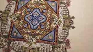 getlinkyoutube.com-Вышивка  крестиком: Водный сад. Мандала от Мартины Розенберг. Завершенная работа