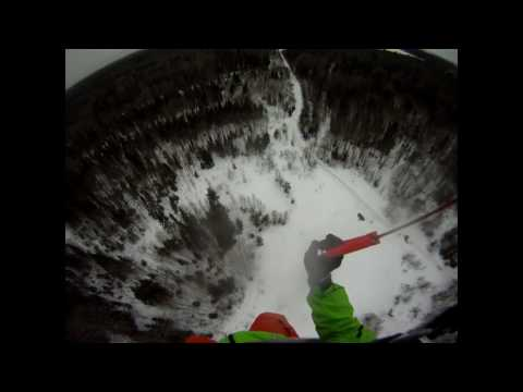 Winter antenna base jump